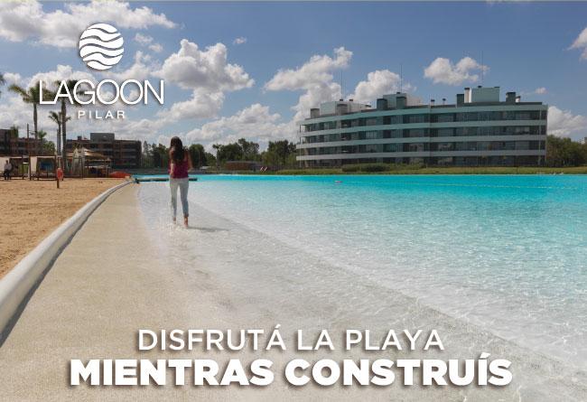 Disfrutá la playa mientras construís